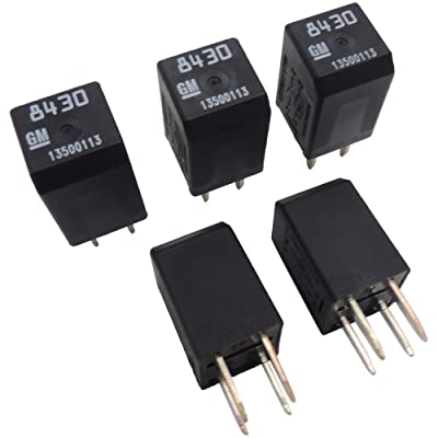 New OEM 13500113 GM Relays (5 Pack) Multi-Function 4-Pin Relay 19116962 D1777C: Automotive