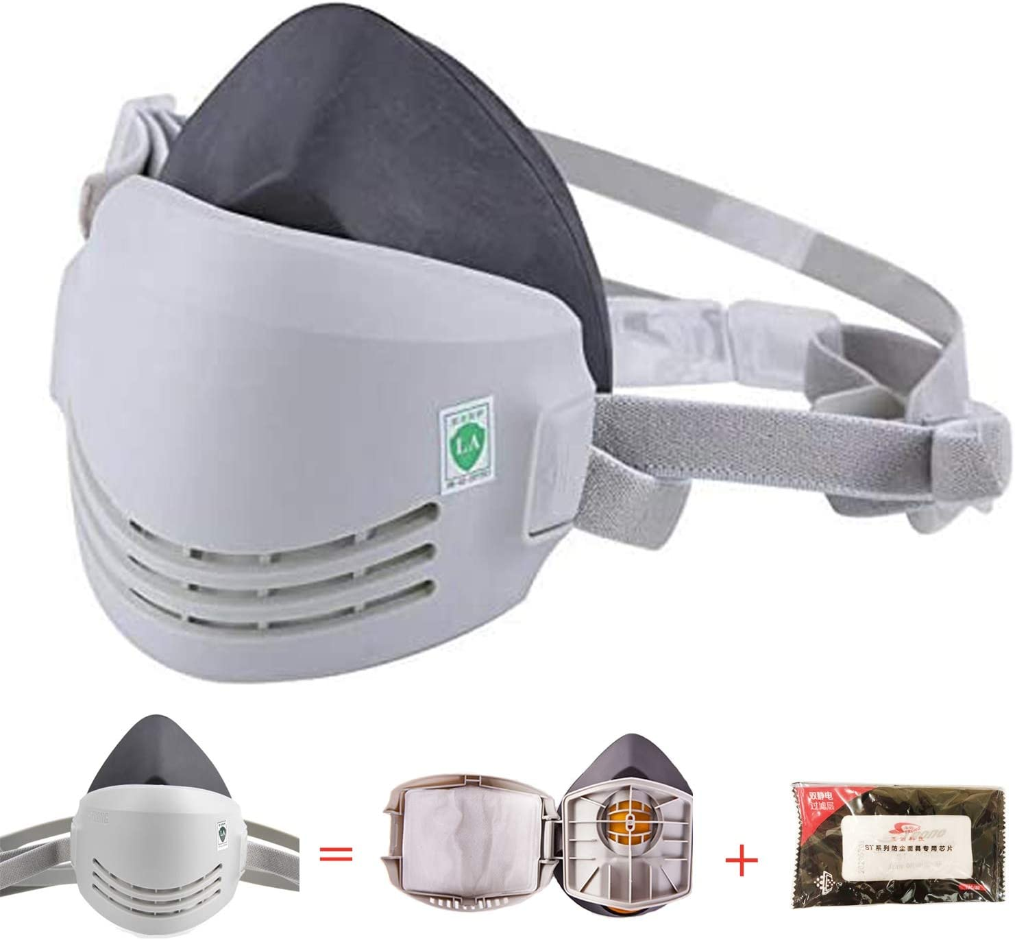 RANKSING Strong-AX Reusable Dust Half Respirator
