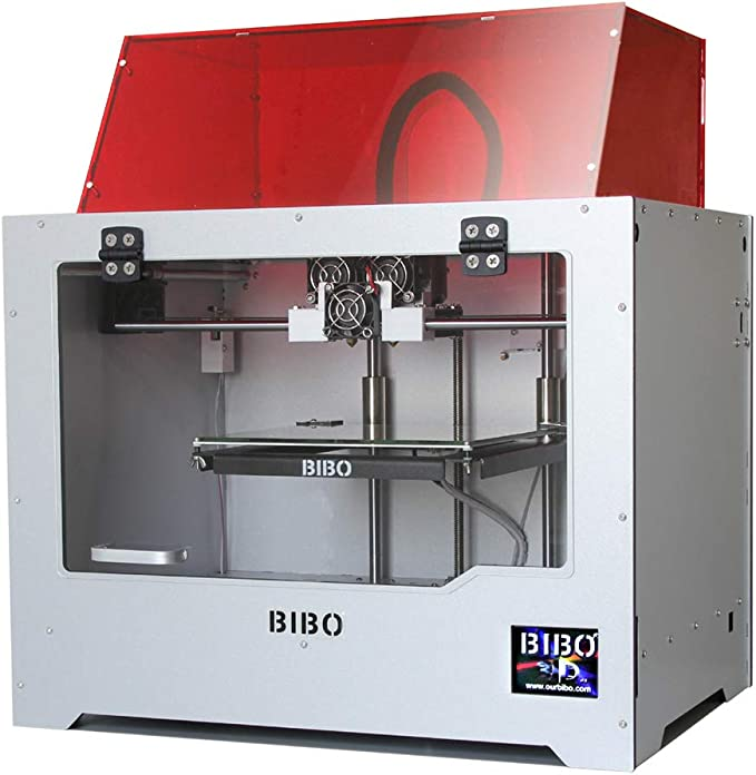 Amazon.com: BIBO 3D Printer Dual Extruder Sturdy Frame WiFi Touch Screen Cut Printing Time in Half Filament Detect Demountable Glass Bed: Office Products