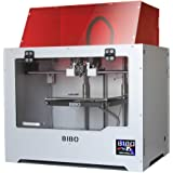 BIBO 3D Printer Dual Extruder Laser Engraving Sturdy Frame WiFi Touch Screen Cut Printing Time In Half Filament Detect removable Glass Bed