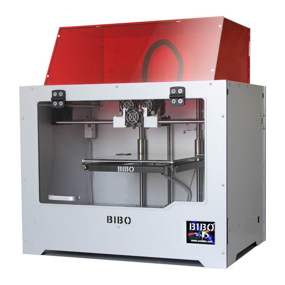 BIBO 3D Printer Sturdy Frame Dual Extruder WIFI Touch Screen Cut ...