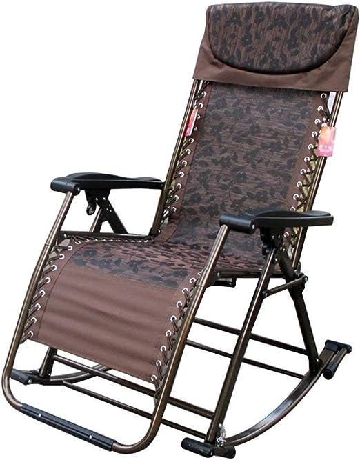 ZAIHW Silla Mecedora Zero Gravity Patio Sillas Jardín Exterior Reclinado Plegable Tumbonas portátiles Oficina Playa Home Lounge Chair (Color : A): Amazon.es: Hogar