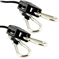 """Apollo Horticulture GLRP18 Pair of 1/8"""" Adjustable Grow Light Rope Hanger w/Improved Metal Internal Gears"""