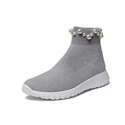 detailed images new images of reliable quality Amazon.com: YaXuan Women's Booties, Autumn Winter New Low-Knit ...