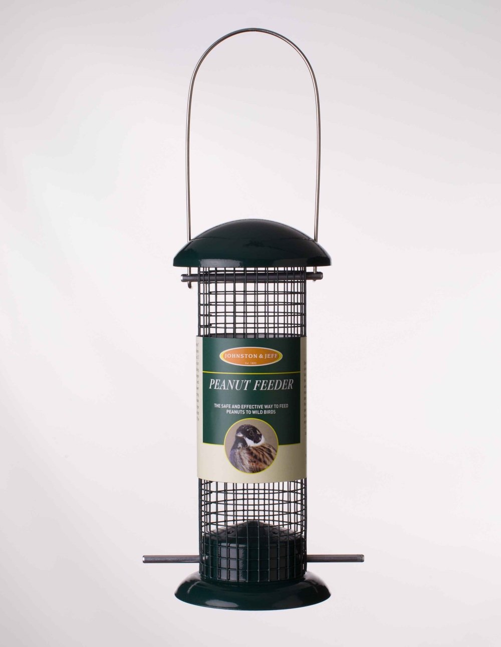 Johnston & Jeff 20, 3 cm Distributeur de cacahuè tes pour oiseaux sauvages Mé tal –  Vert 3cm Distributeur de cacahuètes pour oiseaux sauvages Métal-Vert Johnston and Jeff F003