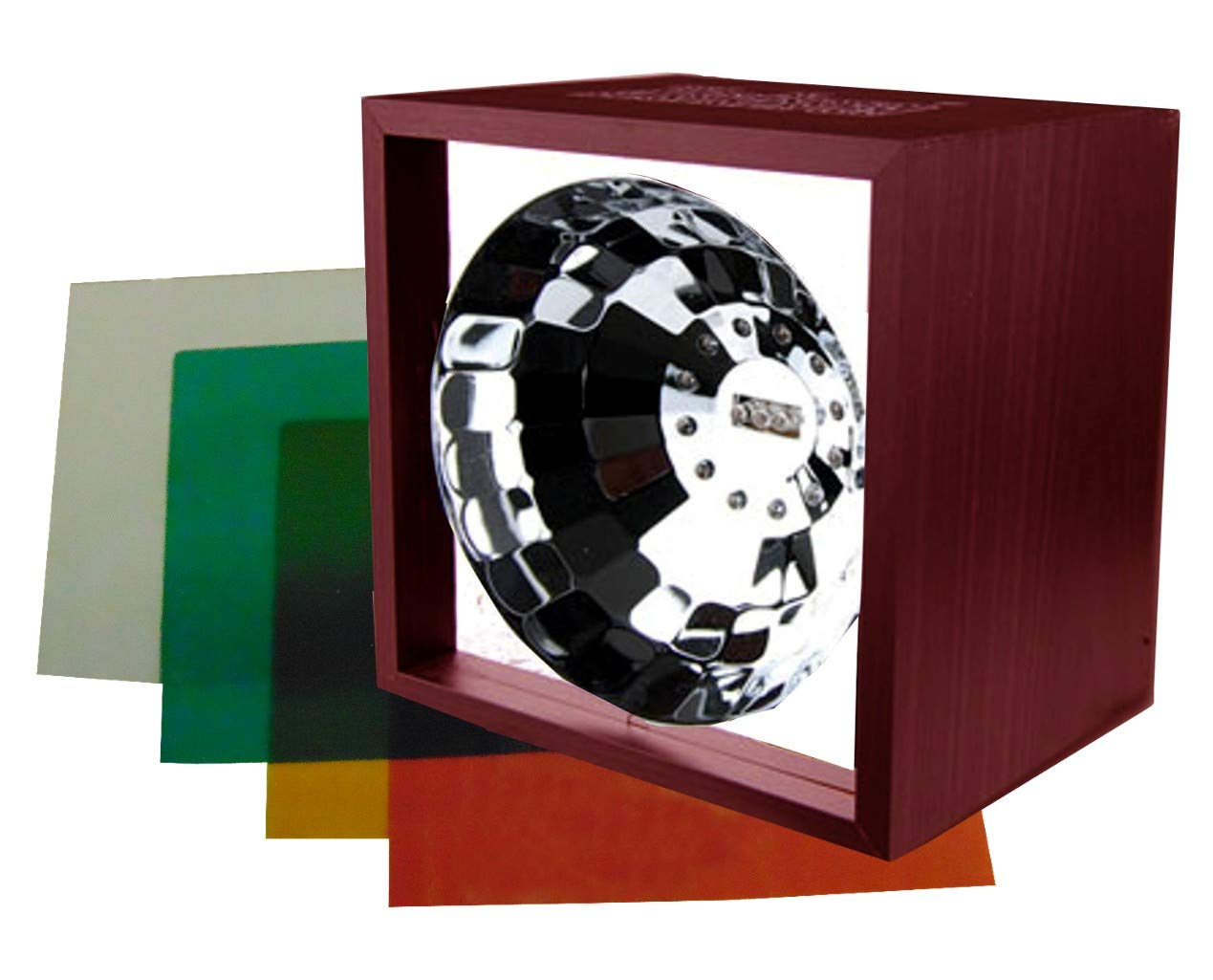 6'' Classic LED Strobe light Variable Speed with 3 Different Color Inserts by Zebra Sound
