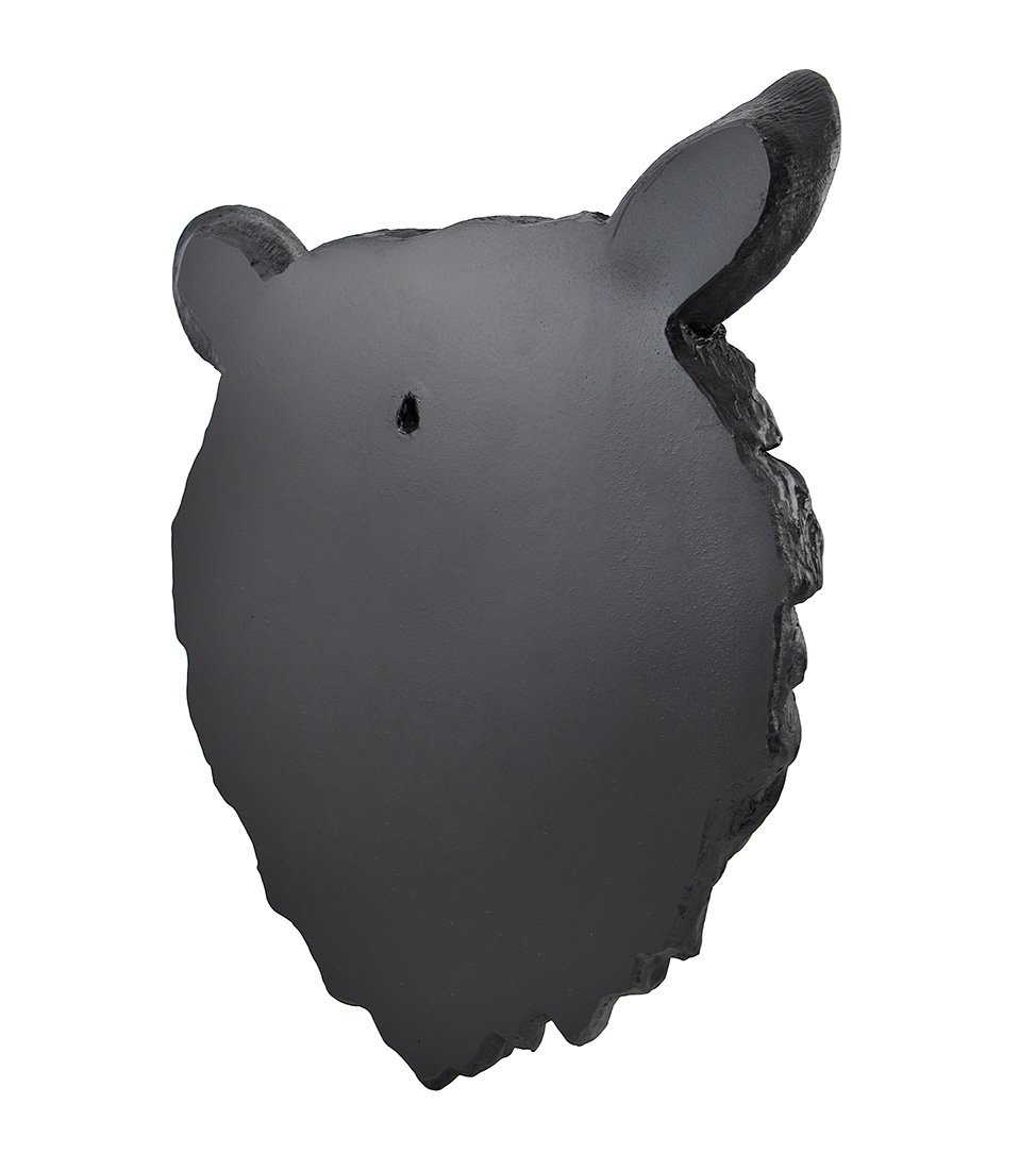 Natural Looking Wall Hanging Big Black Bear Head EST GIFTLAND