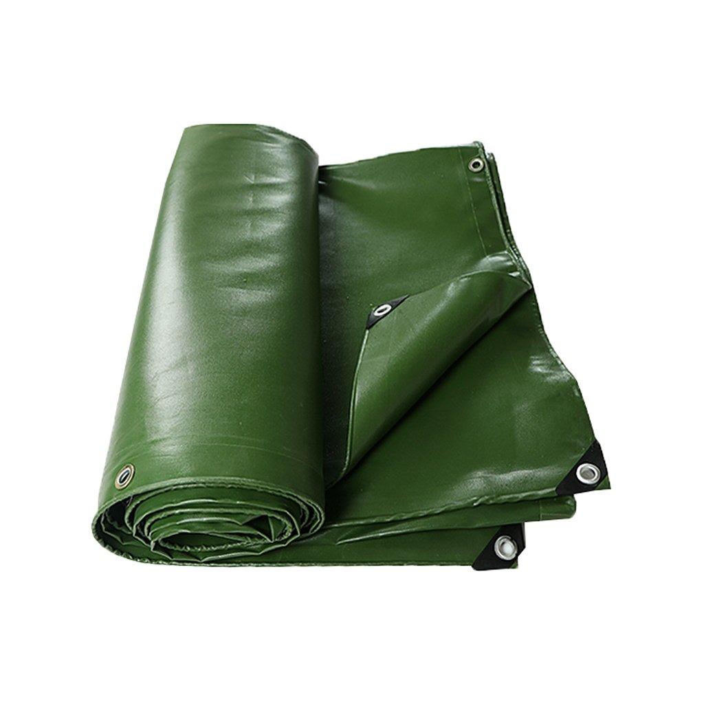 Tarpaulin Waterproof with Eyelets per Imprese edili, Camper, Pittori, Agricoltori, Barche, Motociclette, Balle di fieno, verde, Spessore 0,7mm, 700 g   m², 11 Taglia disponibile ( dimensioni   5m×5m )