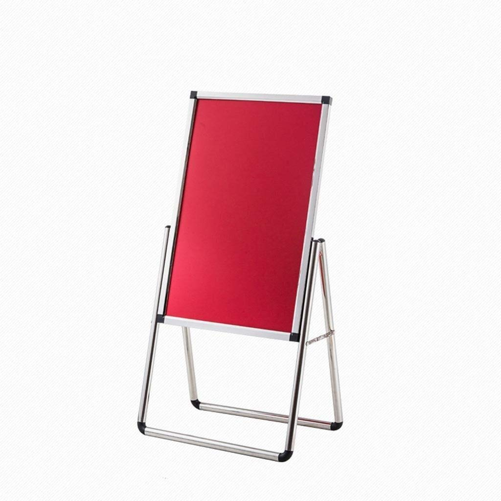 WQQTT Poster Display Stand Advertising Rack Menu Sign Stand Poster Display Stand Notice Stand Board Display Holder Floor-Standing Sign Holder Color : Gold