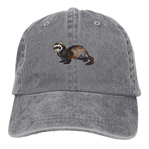 Pants Hats Funny Ferret Denim Hat Adjustable Men Curved Baseball Hat