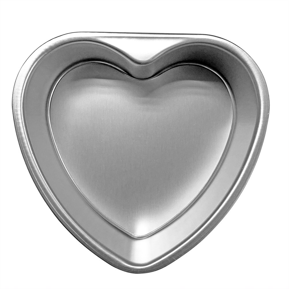Cherion 4PC Aluminium Heart Shaped Cake Pan Set with Removable Bottom for Valentine's Day - 5'' 6'' 8'' 10'' by Cherion (Image #4)