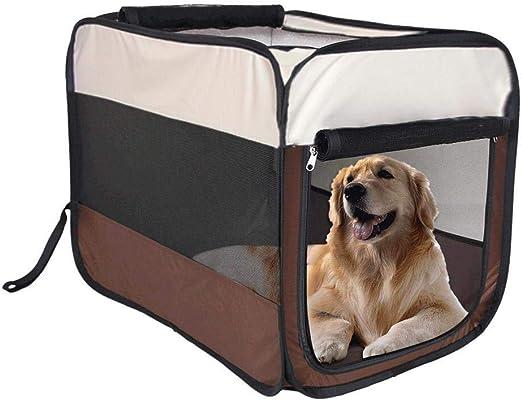 Mascotapara gato perro Portador de mascotas Bolsa de viaje for perros Bolsa de transporte for mascotas transpirable Bolsa plegable for asiento elevador de coche for perros Caja portátil for mascotas f: Amazon.es: