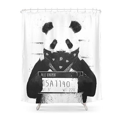 Society6 Bad Panda Shower Curtain 71quot
