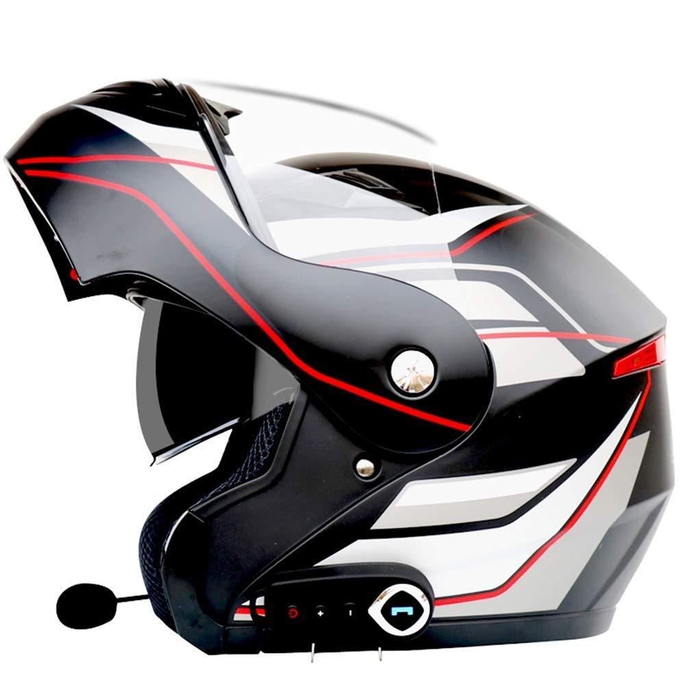 Personalidad Cool Cuatro Temporadas Motocicleta Racing Casco,A,S YIBEN Casco de la Motocicleta Auricular