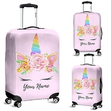 3508cedbcd0d Amazon.com | Personalized Unicorn Luggage Suitcase Cover, Unicorn ...