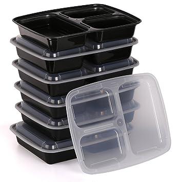 Estilo se Puede Usar en microondas bento envase de alimento de 3 ...
