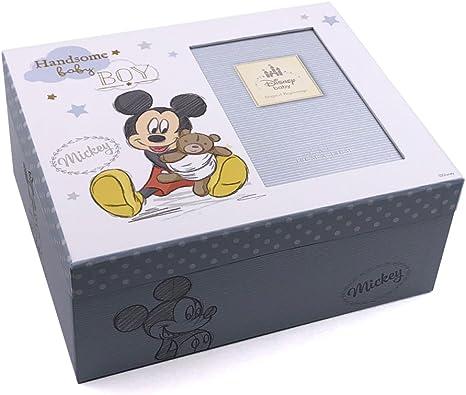 Disney Mickey Mouse - Caja de recuerdos para bebé, diseño de Mickey Mouse azul No Personalisation: Amazon.es: Bebé