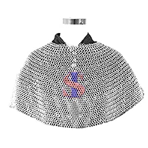 Souvenir India Aventail Medieval 10mm Butted Chainmail Mild Steel Zink Finish