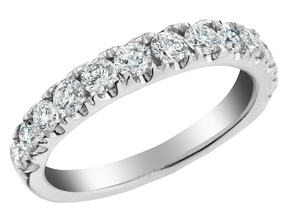 Diamond Wedding Band and Anniversary Comfort Fit Ring 1.0 Carat (ctw) in 14K White Gold