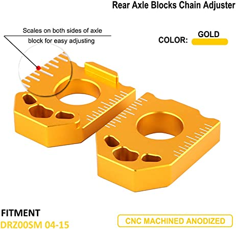 Rear Axle Spindle Chain Adjuster Blocks Adjustment Code Bicycle Accessories LIN