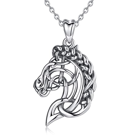 CELESTIA Celtic Horse Head Necklace