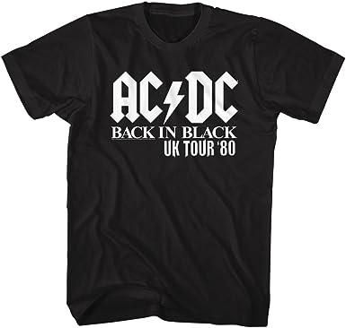 AC//DC Hard Rock Band Music Group Back In Black Uk Tour /'80 Adult T-Shirt Tee