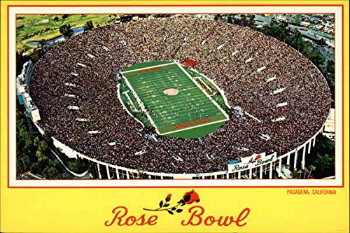 The Rose Bowl on New Year's Day Pasadena, California Original Vintage Postcard