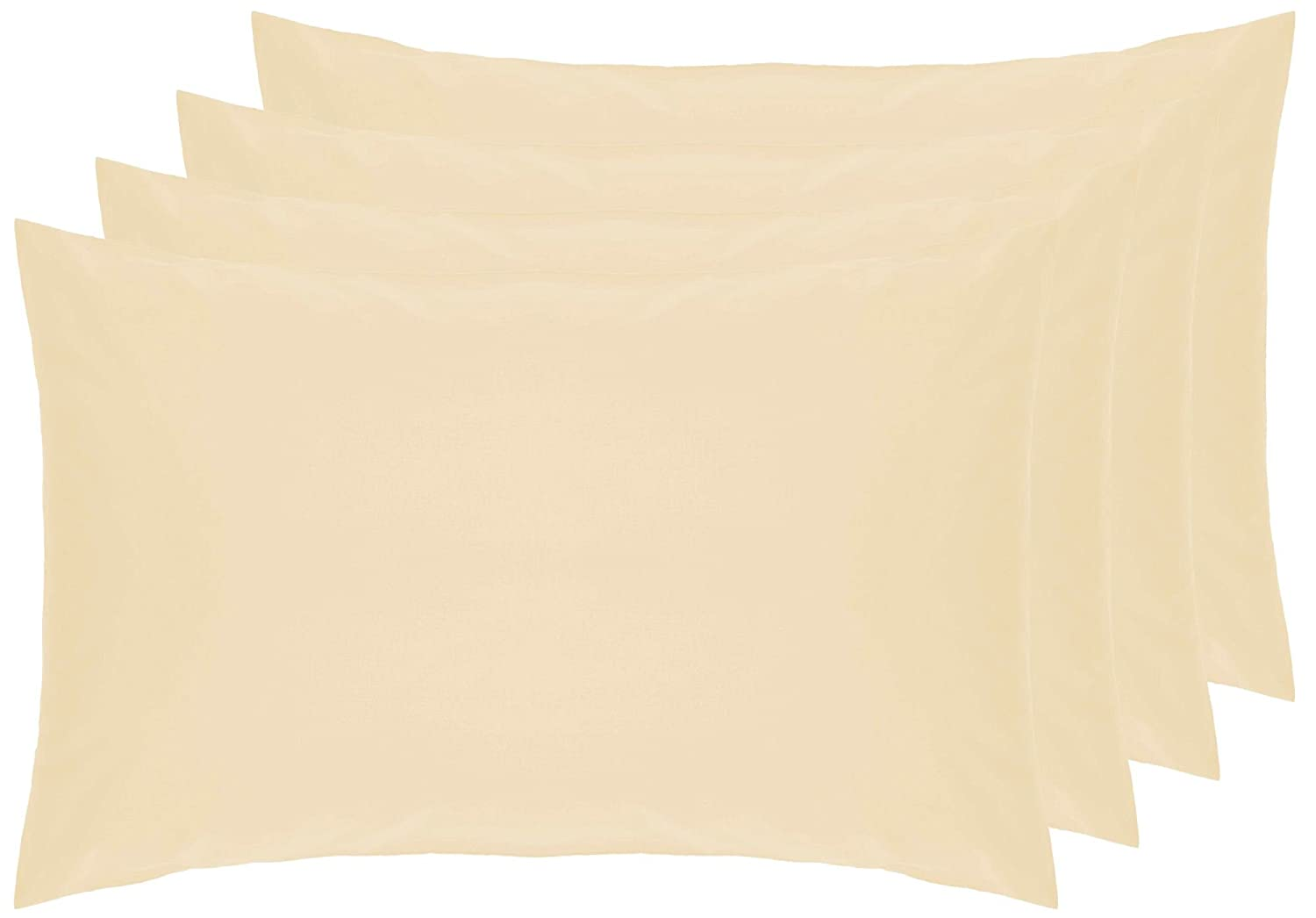Belledorm 4 PACK Black Pillowcases, 200 Thread Count Percale (Housewife)