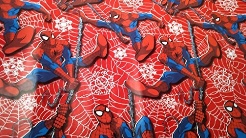 Spiderman Costume Design Scene (Christmas Wrapping Spider Man Holiday Paper Gift Greetings 1 Roll Design Festive Wrap Spider Man Marvel)