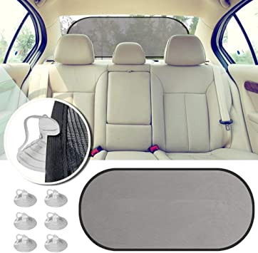 Car Window Shade Black Mesh Sunscreen Sun Visor Car Sunscreen UV Protection for Car Window Sunscreen Suction Cups with Storage Bag Powerful Suction Cup Universal for All Vehicles
