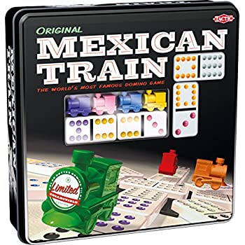 Mexican Train - Game Forup to 8 Players Dominoes - Double-Twelve Domino Set - Colour-Dot Dominoes for Easy Play. World'S Most Popular Domino Game, from Tactic