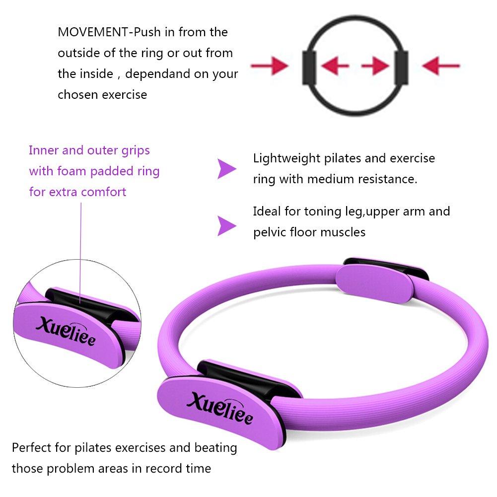 Anilla de pilates-nueva doble asa entrenamiento de resistencia Pilates anillo,diámetro 38 cm por la formación dirigida del tronco, de brazos y de piernas ...