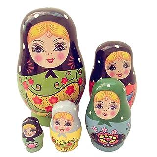 zezego Bambole Russe - 5 Strati di Bambole Russe di Piccole Dimensioni Che fabbricano Bambole incastonate con Bambole dipinte