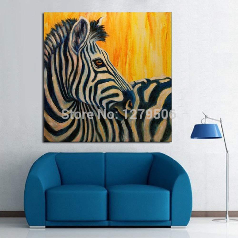 CCMANOR Original Handgemalte Leinwand,/Reine Handgemalte Abstrakte Moderne K/ünstler Acrylmalerei Zebra /Ölmalerei Auf Leinwand Bild F/ür Dekoration 40/×40 cm Rahmenlos