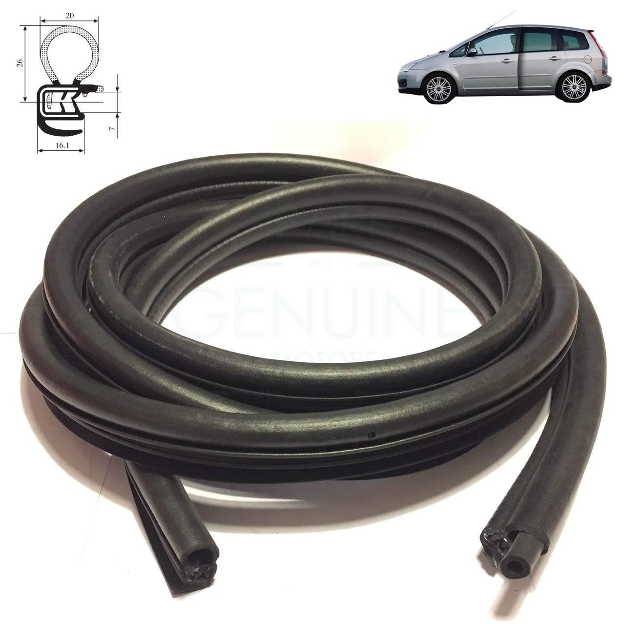 FRONT DOOR RIGHT or LEFT SIDE WEATHERSTRIP RUBBER SEAL 4M51-A20530-BB5Y