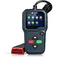 Houzetek OBD II, OBD Car Diagnostic Tool, Lettore codice auto, display a colori Veículos Scanner per OBD2 12V portatile con sistema EVAP e sensore O2