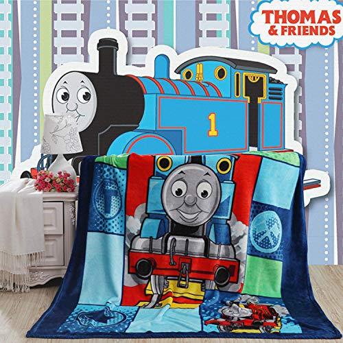 talever Kid Blanket, Super Plush ThrowBlanket Cartoon Print Kids AdultsCharacter Lightweight Coral Fleece Blanket Size 59x78 inches (Thomas) (Thomas Sofa)