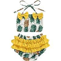 CDZQH Infant Baby Girl Swimsuit Beach Bikini Short Pant 2PC Swimwear Bathing Suit Outfits