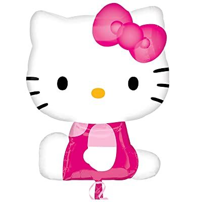 Hello Kitty Mylar Balloon Party Decoration Super Shape 27 Inch: Toys & Games