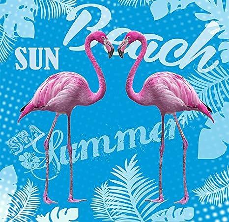 TEXTIL TARRAGO Toalla de playa Gigante 180x140 cm Flamencos rosa Doble algodon 100%: Amazon.es: Hogar