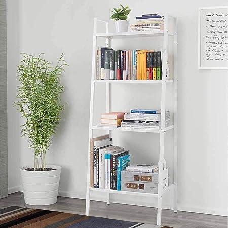 Estantería de 4 Niveles, estantería de Pared para Libros, estantería, estantería de Metal, estantería Estrecha, Armario Organizador de Entrada, Muebles para el hogar: Amazon.es: Hogar
