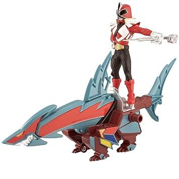 Power Rangers Samurai - Zord acción: Tiburon Ranger, Color Rojo (Bandai 31770)