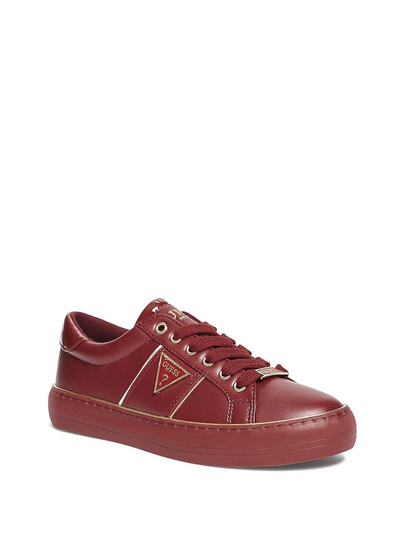GUESS Factory Women's Gilda Logo Low-Top Sneakers B07FF31GF2 6 M US Red Multi