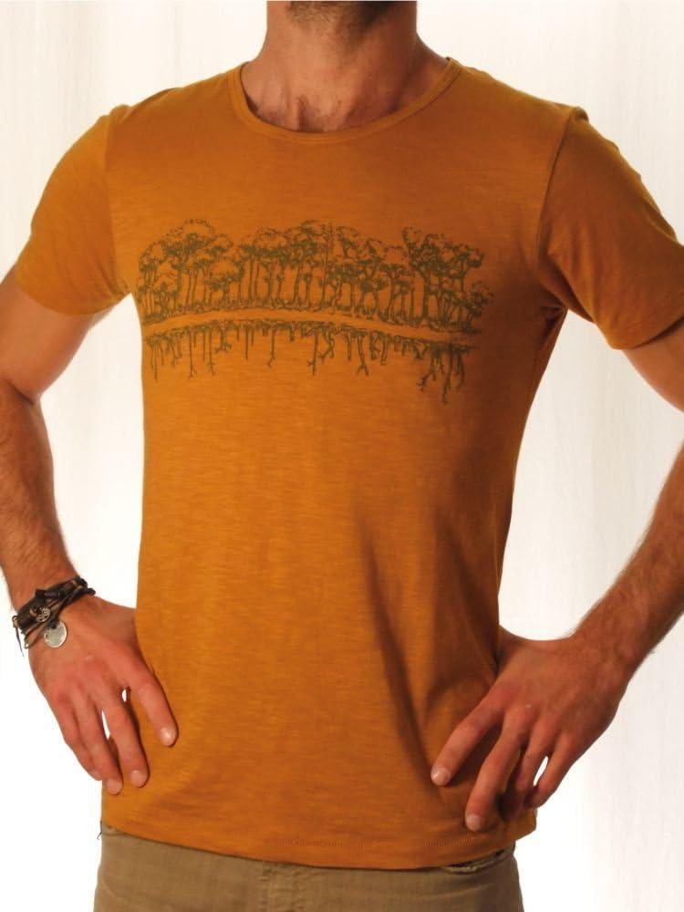 Ropa justa orgánico camiseta hombre