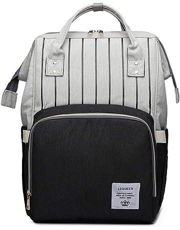 1489a10c86998 Bogji - LEQUEEN Multifunktionale Wickeltasche Rucksack mit großer Kapazität  für Mutterschafts-Wickeltasche