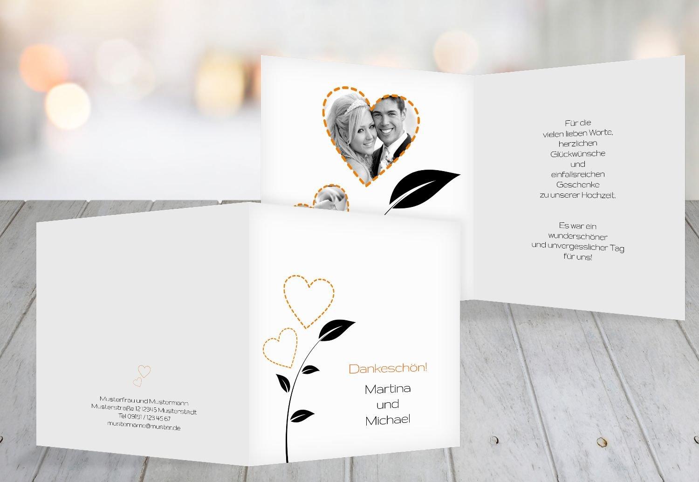 Kartenparadies Danksagung für Hochzeitsgeschenke Hochzeit Dankeskarte HerzBlaume, hochwertige Danksagungskarte Hochzeitsglückwünsche inklusive Umschläge   20 Karten - (Format  145x145 mm) Farbe  RosaRosa B01N24QCV5 | Charmantes Design