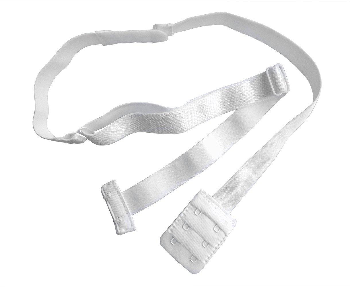 Lady's Adjustable Low Back Bra Converter Straps 2 Hook Black White Beige