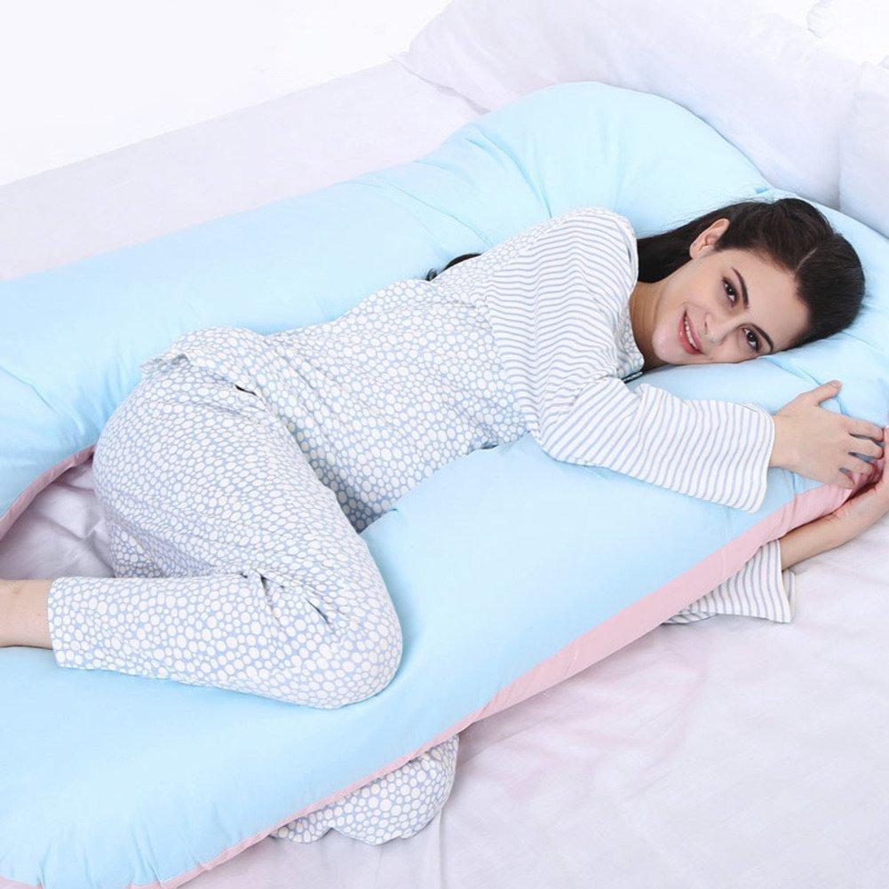 HDSGFDSHGK pregnancy pillow waist side sleeping pillow u pillow pregnancy supplies sleeping on the side pillow pillow cushion-E 145x85cm(57x33inch)