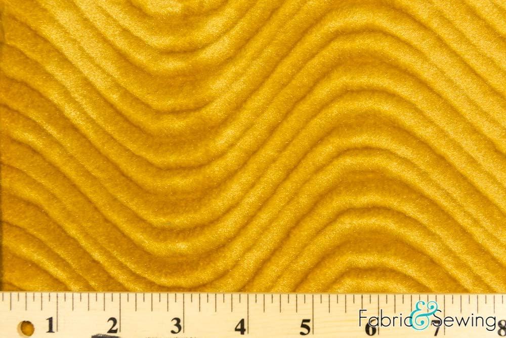 Black Wavy Flocking Velvet Plush Fur Upholstery Fabric Nylon 5 oz 58-60
