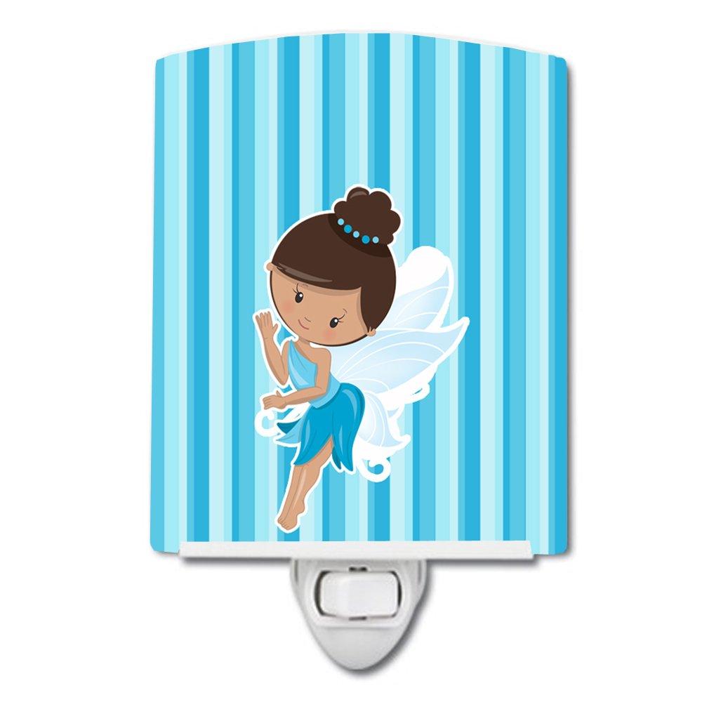 Carolines Treasures Fairy Stripes Ceramic Night Light Blue BB6910CNL 6 x 4